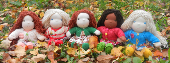 Photo of 5 waldorf dolls for giveaway