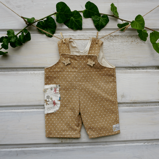Waldorf doll clothes- Overalls for 15-18″ 1