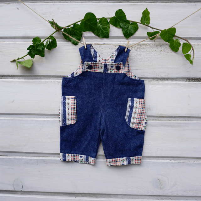 Waldorf doll clothes- Overalls for 18″-20′ 1