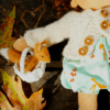 "Darling Cloris 12"" doll with a felted fox"