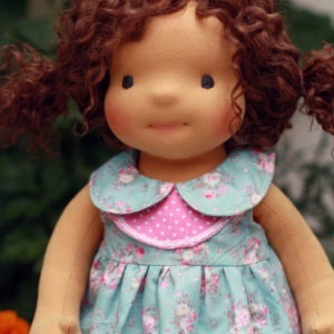 Reserved for Lisa 2 Waldorf doll Niki 18""