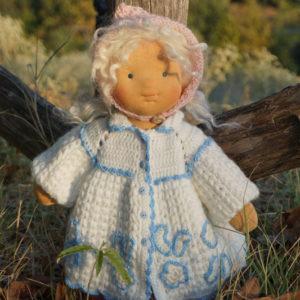 """Waldorf Doll Ingrid, 14"""" OOAK doll"""